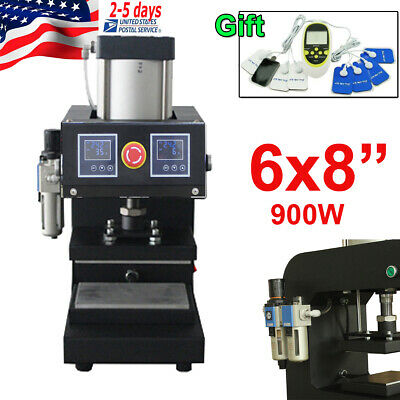 6 X 8 2-lcd Display Pneumatic Rosin Heat Press Machine Dual Heating Elements