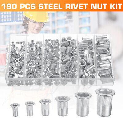 Rivet nuts 6-32 steel 25pc BUY 3 or MORE 10/% Rebate rivnut riv nut nutsert