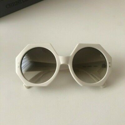 Oliver Goldsmith Hex (1966) Ivory Vintage Sunglasses Ombre Lens