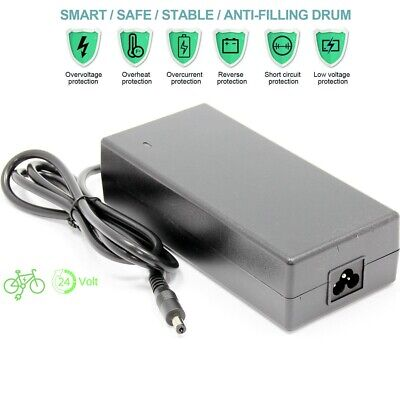 29.4V 2A Cargador de batería eléctrica para bicicleta Li-Ion 24V EU 1...