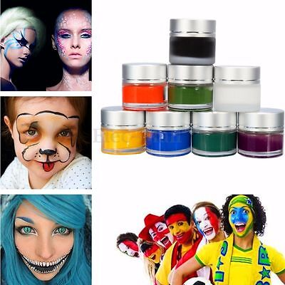 Professional 8 Flash Color Face Body Paint Oil DIY Painting Art Makeup Party - Face Paint Diy