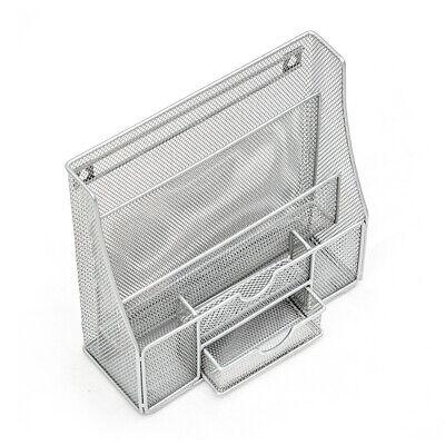 Hgmart Wall Mount File Holder Postcard Basket Organizer Wire Mesh Supply Silver
