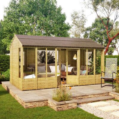 14 x 8 Hobbyist Summerhouse with Long Windows OSB Roof and Floor...