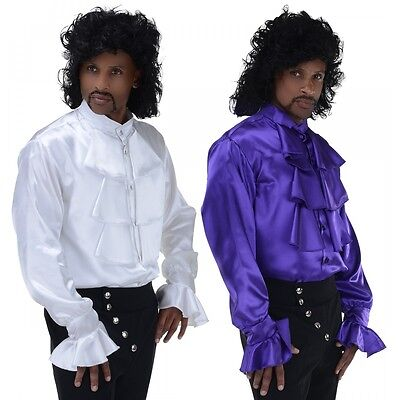 Ruffle Shirt 80s Rocker Prince Purple Rain 90s Seinfeld Pirate Halloween Costume