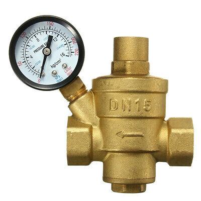 Adjustable Dn15 Bspp Brass Water Pressure Reducing Valve With Gauge Flow