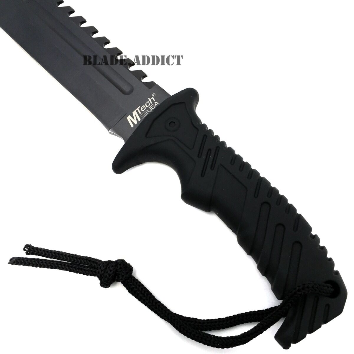 """13"""" BLACK TACTICAL SURVIVAL Rambo Hunting FIXED BLADE KNIFE Army Bowie w/ SHEATH"""