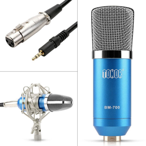 Купить Tonor - TONOR Professional Condenser Microphone Studio Recording Mic W/ Stand Blue