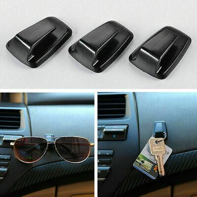 3*Universal Car Keys Mini Bag Hanger Hook Holder Sun Eye Glasses Clip Adhesive