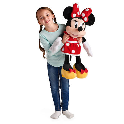 """Disney Store Authentic Red Minnie Mouse Large Jumbo Plush 27"""" H Girls Doll"""