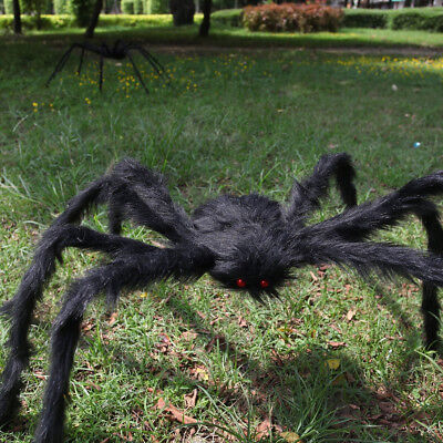 5FT/150CM Black Spider Halloween Decoration Haunted House Prop Garden Outdoor US - Halloween Decoration Outside