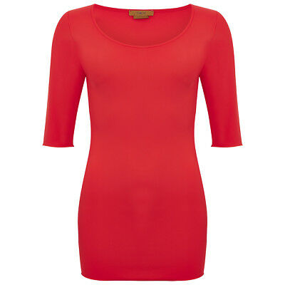 Hope Foundation 3/4 Sleeve Scoop Top Coral Size Dual Curvy rrp £65 LS170 CC 11