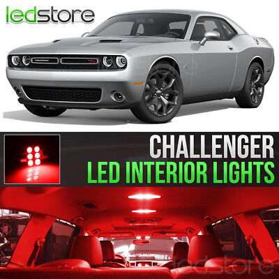2015-2018 Dodge Challenger Red Interior LED Lights Kit Package