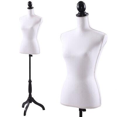 Female Mannequin Torso Dress Clothing Form Display Wblack Tripod Stand