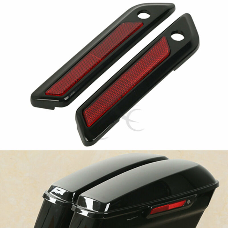 Saddle Bag Hinge Latch Covers For Harley Touring Electra Glide Road King 14-18