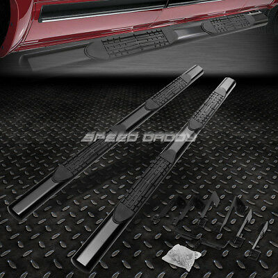 "FOR 01-16 CHEVY SILVERADO CREW CAB 4""OVAL BLACK SIDE STEP NERF BAR RUNNING BOARD"