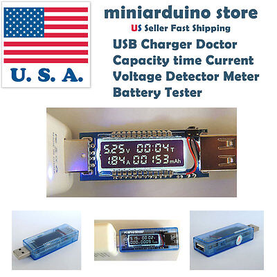 3 in 1 OLED Battery Tester Power Detector Voltage Current Meter USB Charger USA