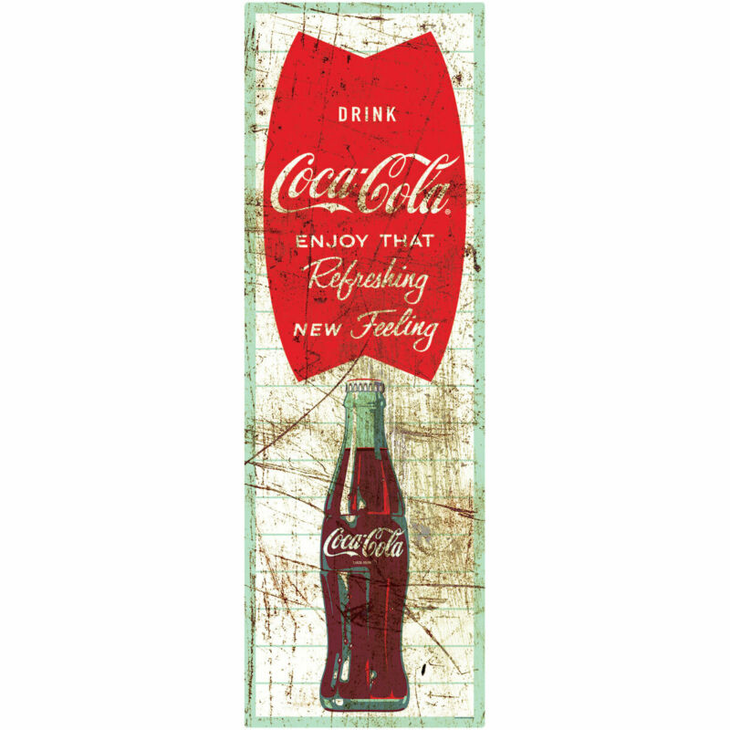 Coca-Cola Enjoy That Distressed Wall Decal 8 x 24 Vintage Style Kitchen
