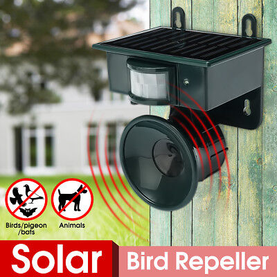 Outdoor Solar Ultrasonic PIR Repeller Animal Bird Bat Cat Dog Scarer Deterrent