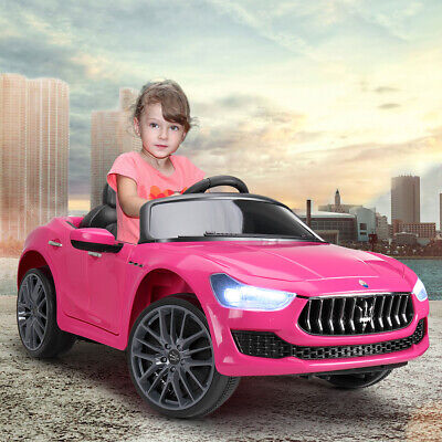 Pink 12V Maserati Ghibli Kids Gift Ride On Electric Toy Car with Remote Control