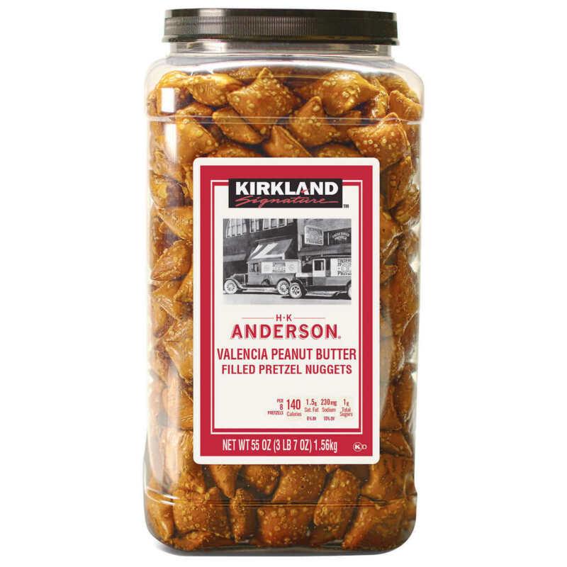 Kirkland HK Anderson Peanut Butter Filled Pretzel Nuggets 55 oz. (Pack of 2)