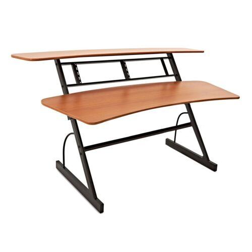 Large 3 Tier Studio Desk by Gear4music, 8U-DAMAGED-RRP £299
