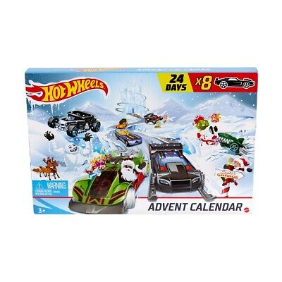 Hot Wheels 2019 Advent Calendar Vehicles Collectible Gift Mattel For Kids Xmas H