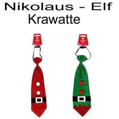 Nikolaus Krawatte Elf Krawatte Kostüm Weihnachten Fasching Karneval Motto Party (Weihnachten Mottoparty Kostüm)