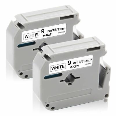2-pkpack For Brother P-touch Label Pt-65 70 M-k221 Mk221 Blackwhite Tape 38