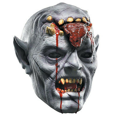 Squishy Possessed Costume Scary Zombie Vampire Vinyl Adult Mask Disguise 19187 (Possessed Costume)