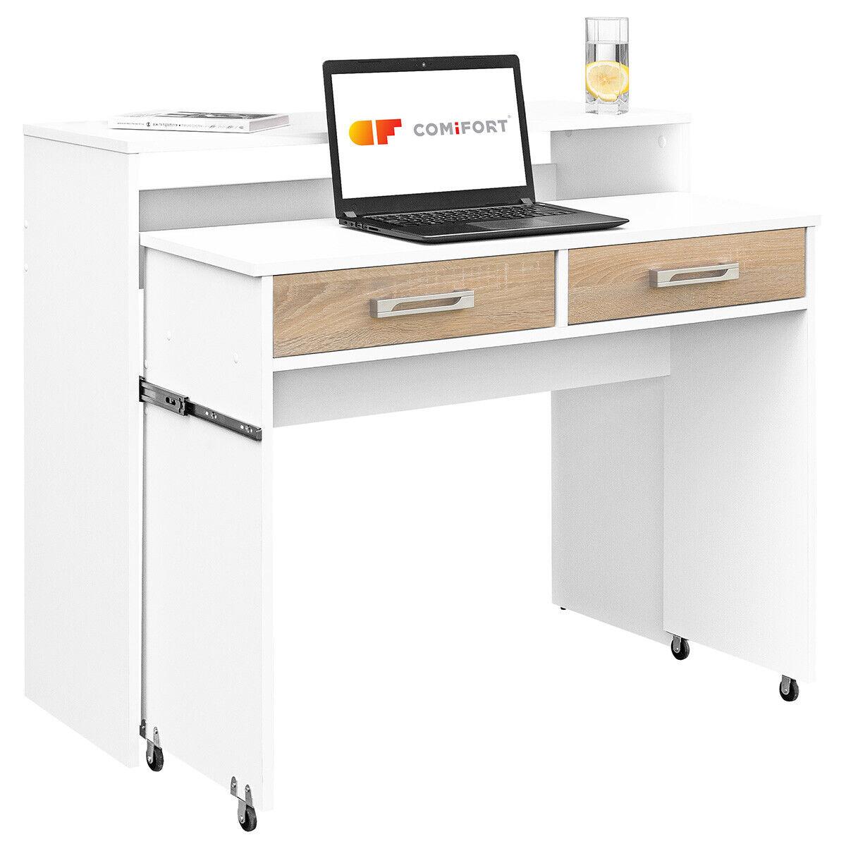 COMIFORT - Mesa consola escritorio extensible para despacho estudios calidad pc