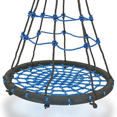 XXL Nestschaukel 200kg Schaukel Kinder Rundschaukel Tellerschaukel Blau Neu