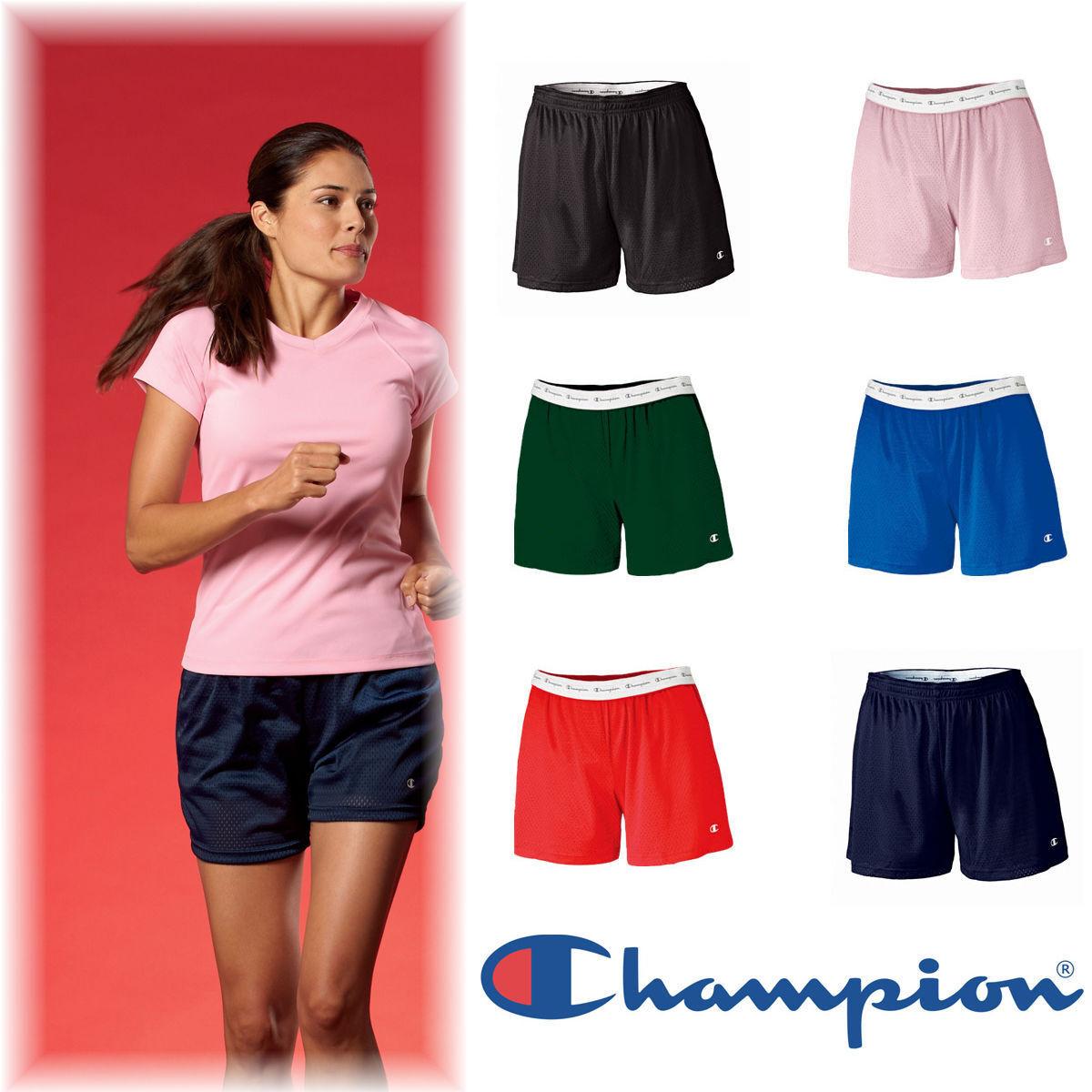 Champion Womens Size S-2XL Roll down Tagless Mesh Gym Shorts