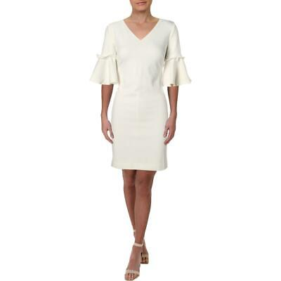 Lauren Ralph Lauren Womens Ivory Bell Sleeve Daytime Shift Dress 10 BHFO 5316