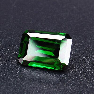 30ct Natural Mined Green Loose Gemstone Emerald Colombia Emerald Cut AAAAAAA+