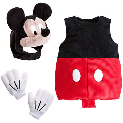 NWT Disney Store Baby Mickey Mouse Plush Costume Sz 3/6 6/12 12/18 or 18/24 M (Disney Baby Mickey Mouse Kostüme)