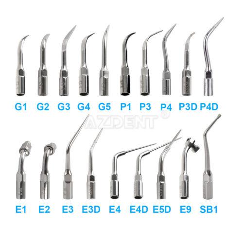 Woodpecke Dental Ultrasónico Escalador Escalando Endo Perio Punta G P E para EMS