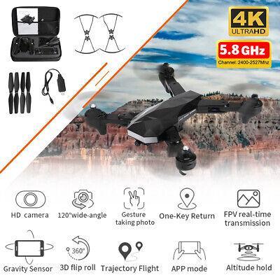 5.8G Wifi 4K HD Camera Folding RC Drone GPS FPV Quadcopter Taking Photo