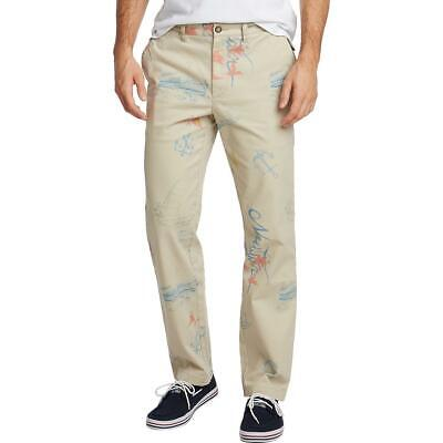 Nautica Mens Printed Classic Fit Stretch Khaki Pants BHFO 4767