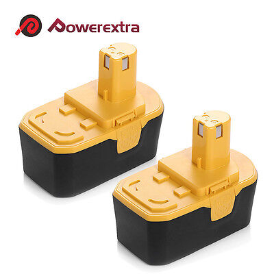 2 Pack 18 Volt Replacement Battery For Ryobi One Plus One  P100 Abp1801 Bpp 1817