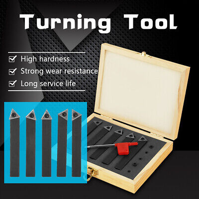 Indexable Carbide Lathe Turning Tool Holder Bit Set With 5pcs Carbide Inserts