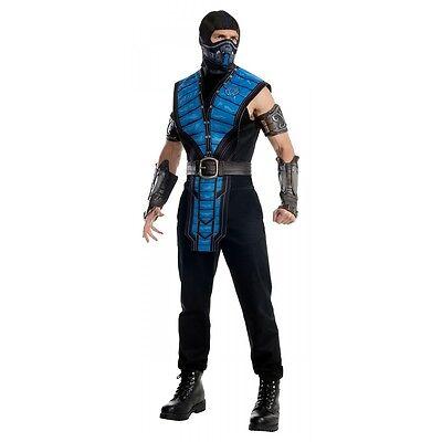 Sub-Zero Costume Adult Mortal Kombat Ninja Halloween Fancy Dress - Mortal Kombat Halloween Costumes