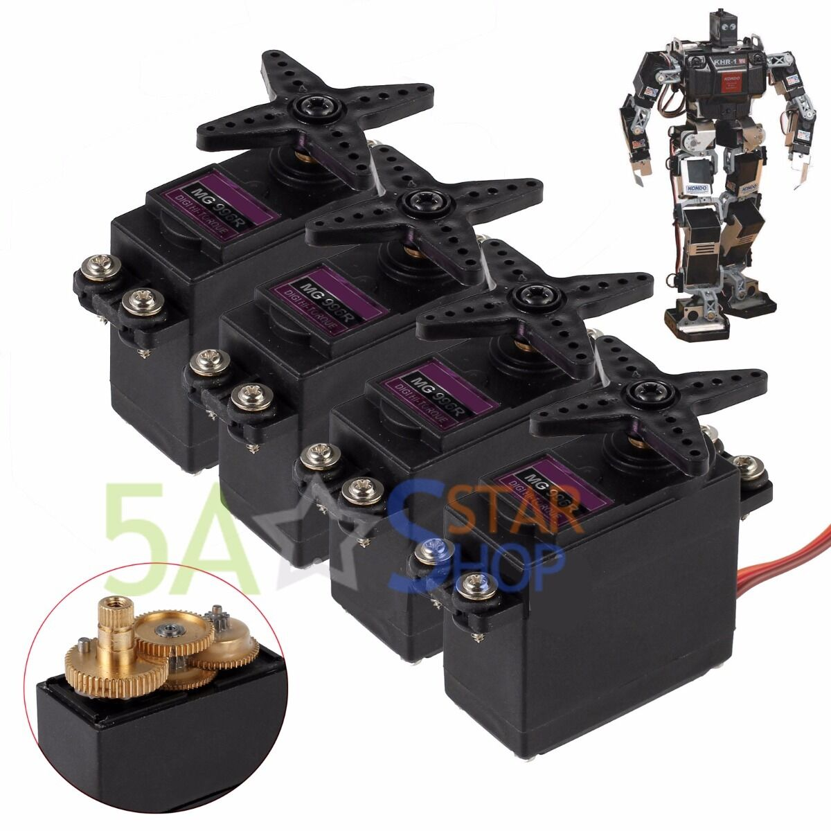 4 x MG996R Digitale Torque Servo Metal Gear für JR 2C RC Auto Boot Rc Helikopter