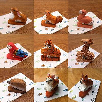 Cute Handcraft Stylish Wood Animal Design Mini Portable Home Office Stapler
