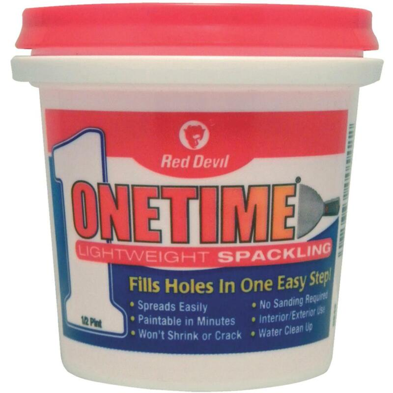 Red Devil Onetime 1/2 Pt. Lightweight Acrylic Spackling Compound 0542  - 1 Each