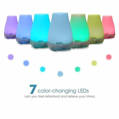 7 LED 100ml Aromatherapy Essential Oil Aroma Diffuser Cool Mist Aroma Humidifier