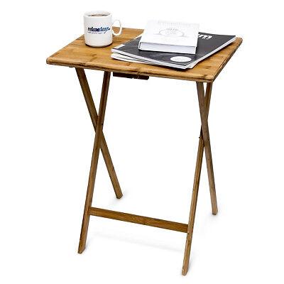 Beistelltisch Klapptisch Telefontisch Bambus Holztisch Tisch Balkontisch robust - Holz Telefon Tisch