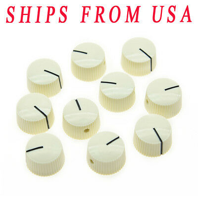 KAISH 10X Ivory Vintage Style Barrel Guitar AMP  Amplifier Knobs  fits Fender
