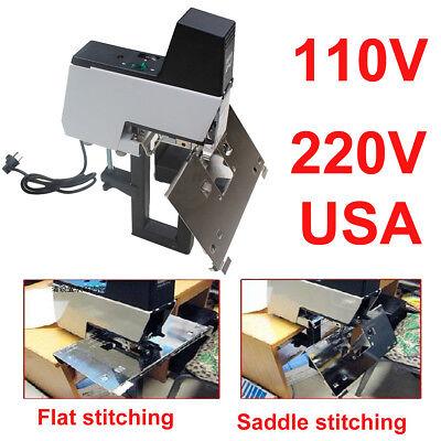 Flatsaddle Stitching Electric Auto Rapid Stapler Binder Book Binding Machine Us