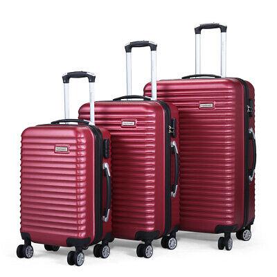 3 Piece Luggage Hard-side Spinner Travel Bag Storage Organize Suitcase Set