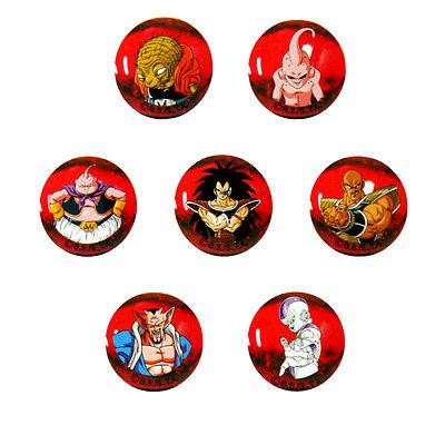 56589. Murmelbahn Dragonball Z, 7 Bälle Glas 22mm Villains (Dragon Ball Z Bälle)